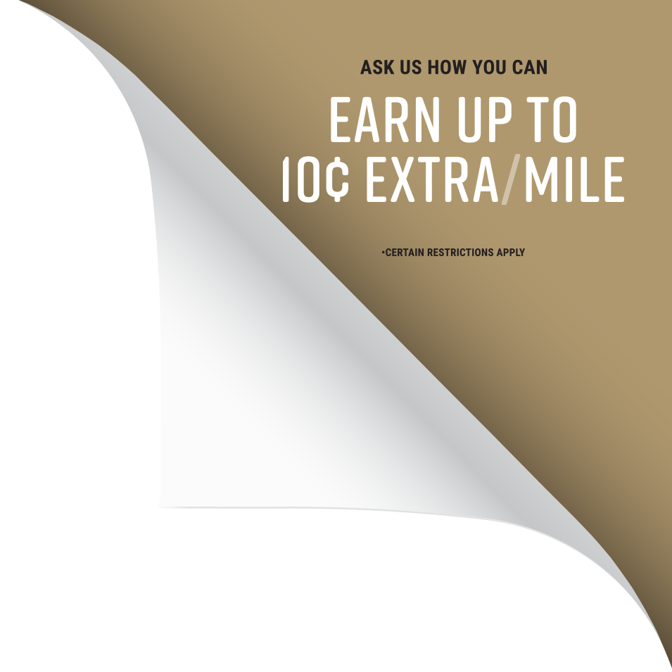 Earn up to 10 cents extra per mile