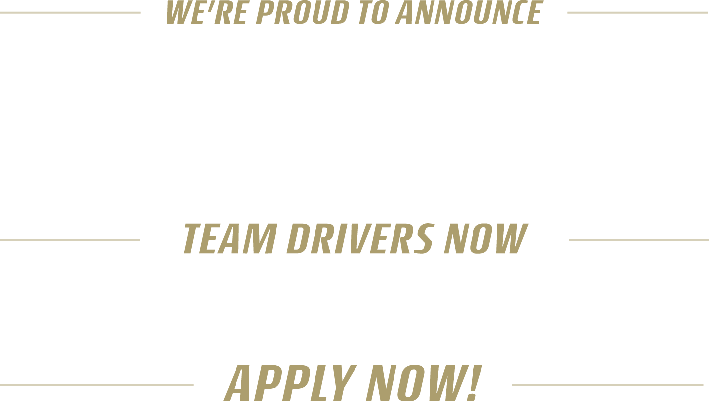 We're proud to announce the largest team driver pay increase in CRST's history. Team drivers now earn up to $.85 CPM. Apply now!